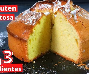 3 ingredients gluten free, dairy free sponge cake