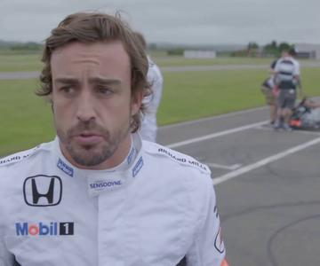 Alonso reta en kárting a Button, Vandoorne, Häkkinen y Coulthard