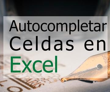 Autocompletar celdas vacias en Excel