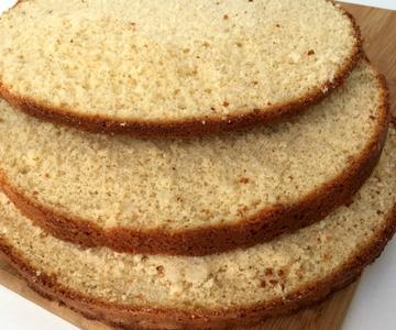 Bizcocho base para tartas muy esponjoso