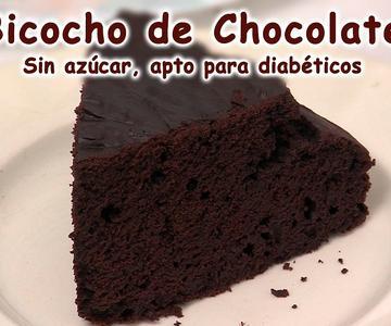 Bizcocho de Chocolate, Sin Azucar, Vida Natural y Belleza