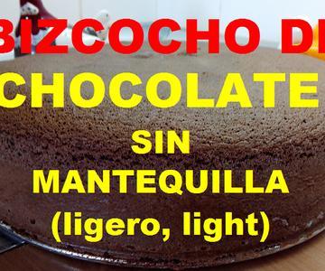 Bizcocho de chocolate, sin mantequilla ni aceite, ligero light, super esponjoso, La cocina de Jaki.