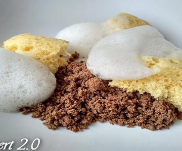 Bizcocho de Limon al Sifon, Tierra de Cacao y Aire de Limonada DESSERT 2 0