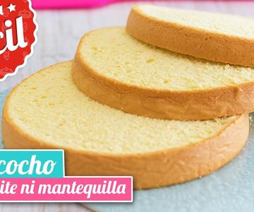 BIZCOCHO LIGERO sin aceite ni mantequilla | Receta fácil | Quiero Cupcakes!