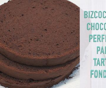 Bizcocho Perfecto para tartas Fondant de Chocolate | Bizcocho de Chocolate para Tortas