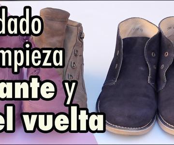Cómo limpiar zapatos de ante y piel vuelta (o zapatos de gamuza)