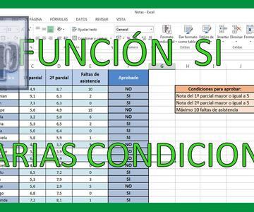 Excel - Función SI con varias condiciones. Tutorial en español HD