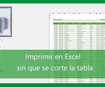 Excel - Imprimir tabla Excel en una sola hoja. Tutorial en español HD