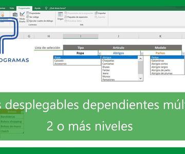 Excel | Listas desplegables de varios niveles en Excel.Tutorial en español HD