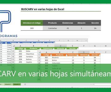 Excel | TRUCO 🔎 buscar en varias hojas de Excel usando BUSCARV. Tutorial en español HD