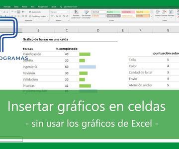 Excel | TRUCO 🔝 Insertar gráficos en una celda sin utilizar los gráficos.