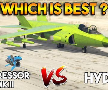 GTA 5 ONLINE: OPPRESSOR MK II VS (contra) HYDRA (¿ CUAL ES ELMEJOR ?)