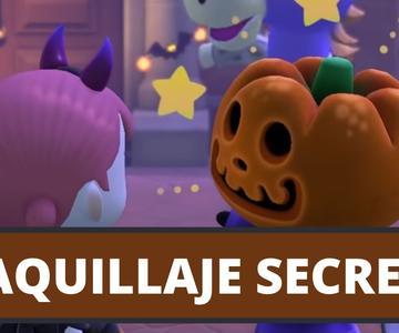 MAQUILLAJE OCULTO de HALLOWEEN en Animal Crossing New Horizons | CobayasGamer