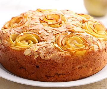 Pastel de Manzana tipo Bizcocho Fácil, Riquísimo y Jugoso