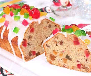 Plum Cake de Frutas Perfecto y súper Fácil | Bizcocho de Navidad