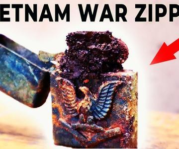 Restauración del encendedor Zippo - reparación de la guerra de Vietnam 67-68 Long Binh