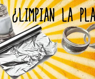 Sal y papel de aluminio, ¿limpian la plata?