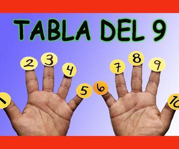 ✅👉 Tabla de 9 con los dedos