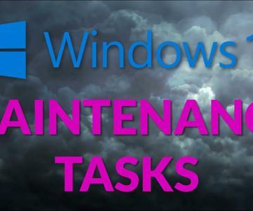Tareas de mantenimiento de Windows 10