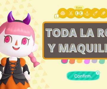 TODA la ROPA y MAQUILLAJE NUEVO de Halloween disponible en Animal Crossing New Horizons