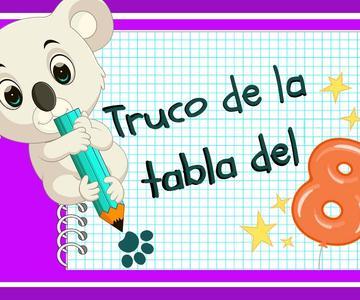 TRUCO DE MATEMÁTICA PARA NIÑOS SENCILLO: APRENDER LA TABLA DEL 8. Matemáticas fáciles para niños