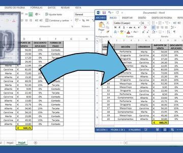 Word - Vincular tabla de Excel a Word. Exportar de Excel a Word. Tutorial en español HD